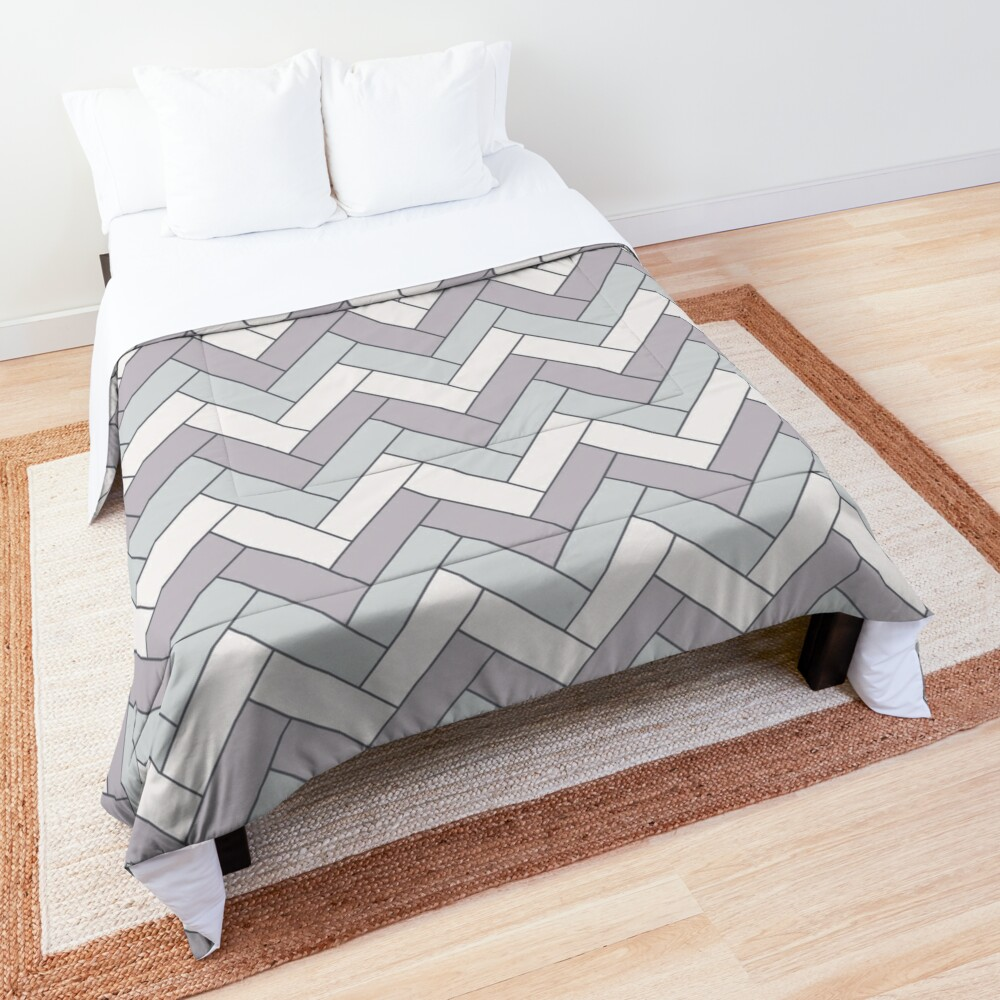 Geometric Pattern: Herringbone: Winter Comforter
