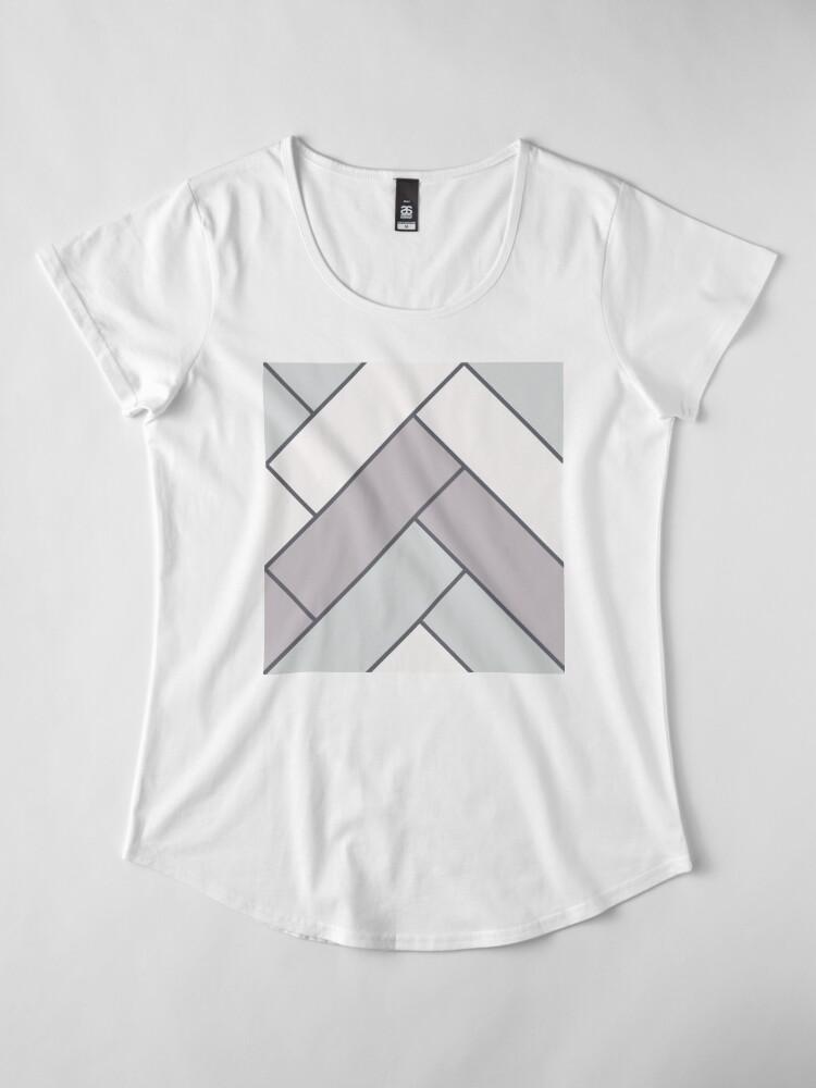 Alternate view of Geometric Pattern: Herringbone: Winter Premium Scoop T-Shirt