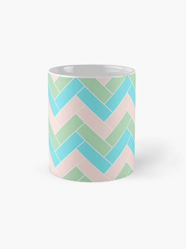 Alternate view of Geometric Pattern: Herringbone: Spring Mug