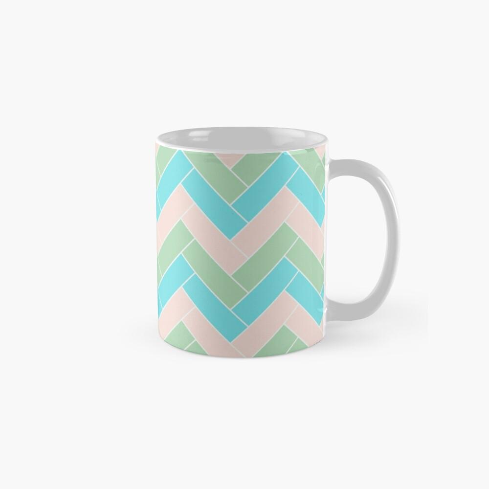 Geometric Pattern: Herringbone: Spring Mug