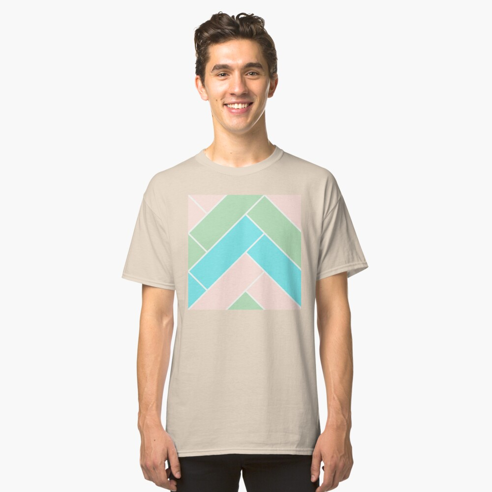 Geometric Pattern: Herringbone: Spring Classic T-Shirt