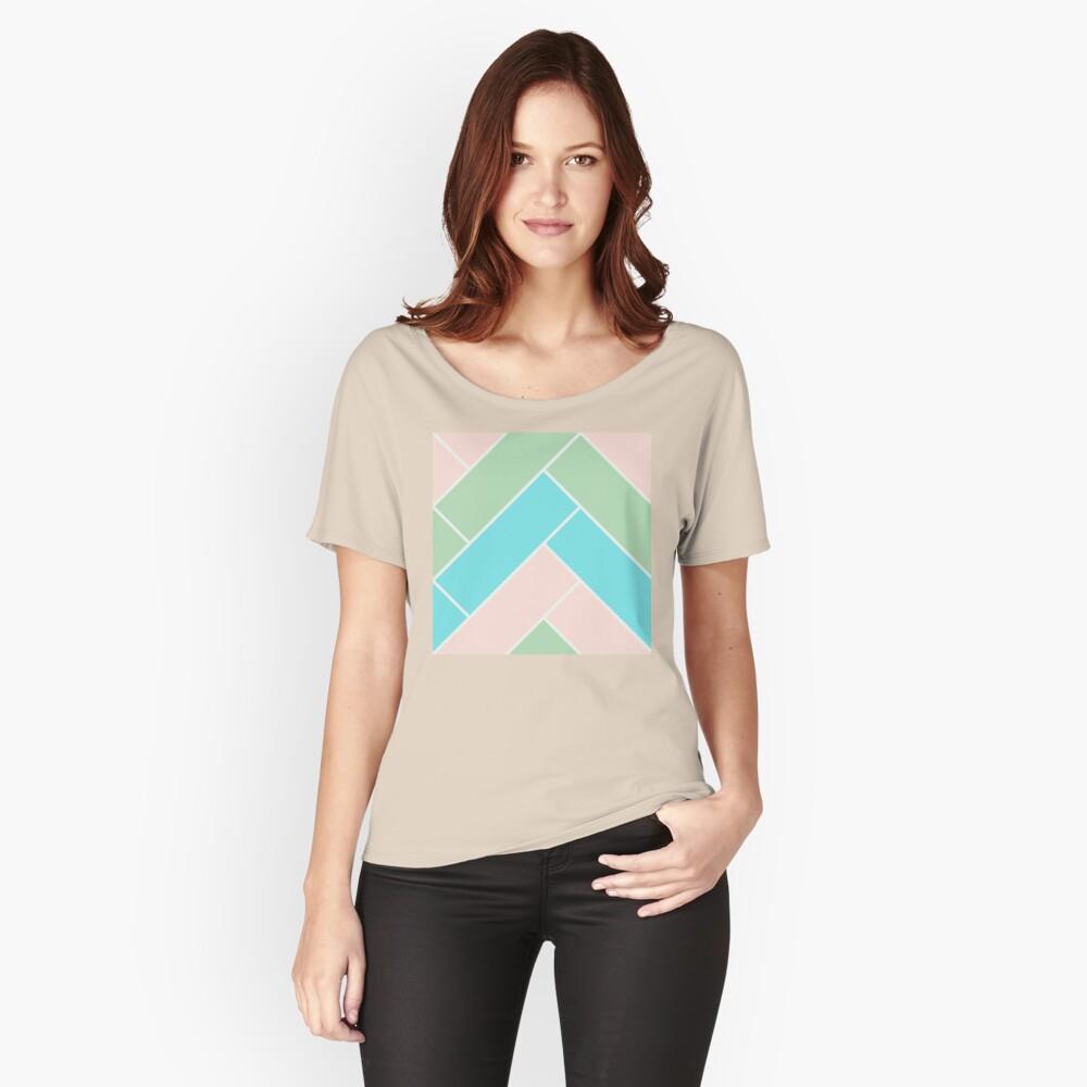Geometric Pattern: Herringbone: Spring Relaxed Fit T-Shirt