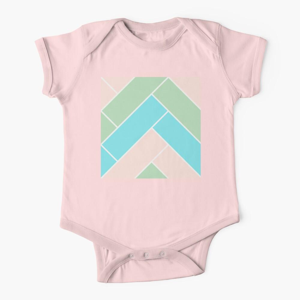 Geometric Pattern: Herringbone: Spring Baby One-Piece