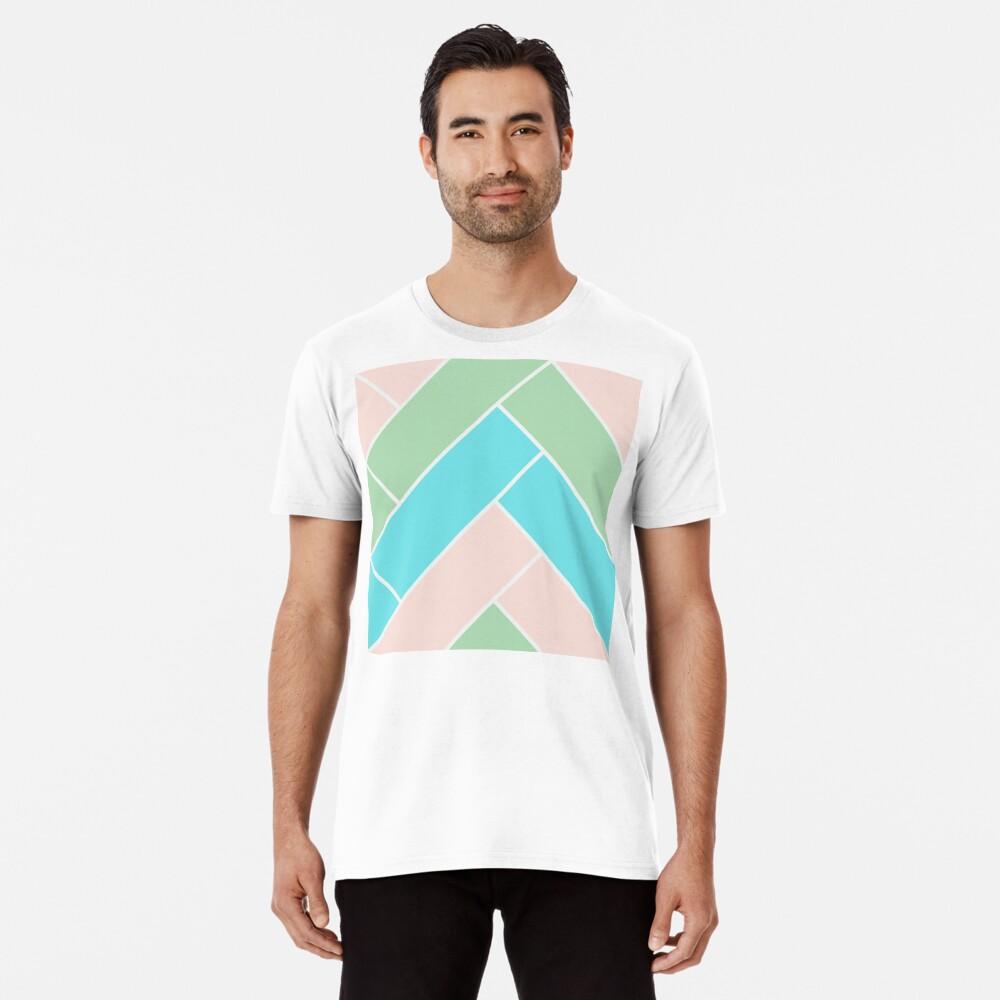 Geometric Pattern: Herringbone: Spring Premium T-Shirt