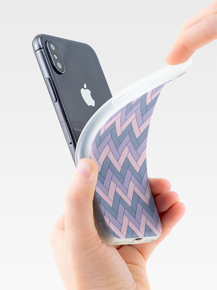 Alternate view of Geometric Pattern: Herringbone: Iris iPhone Case & Cover