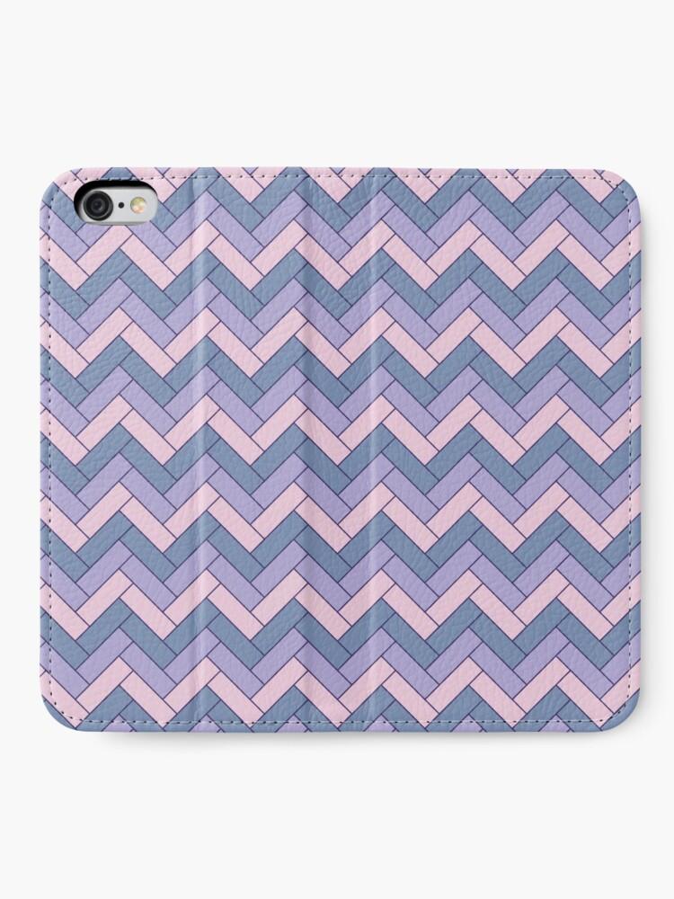 Alternate view of Geometric Pattern: Herringbone: Iris iPhone Wallet