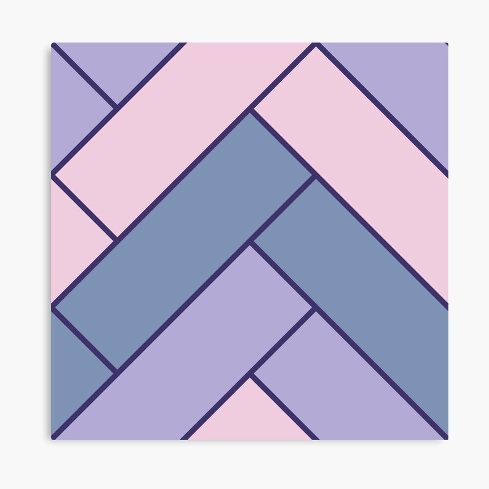 Geometric Pattern: Herringbone: Iris Canvas Print