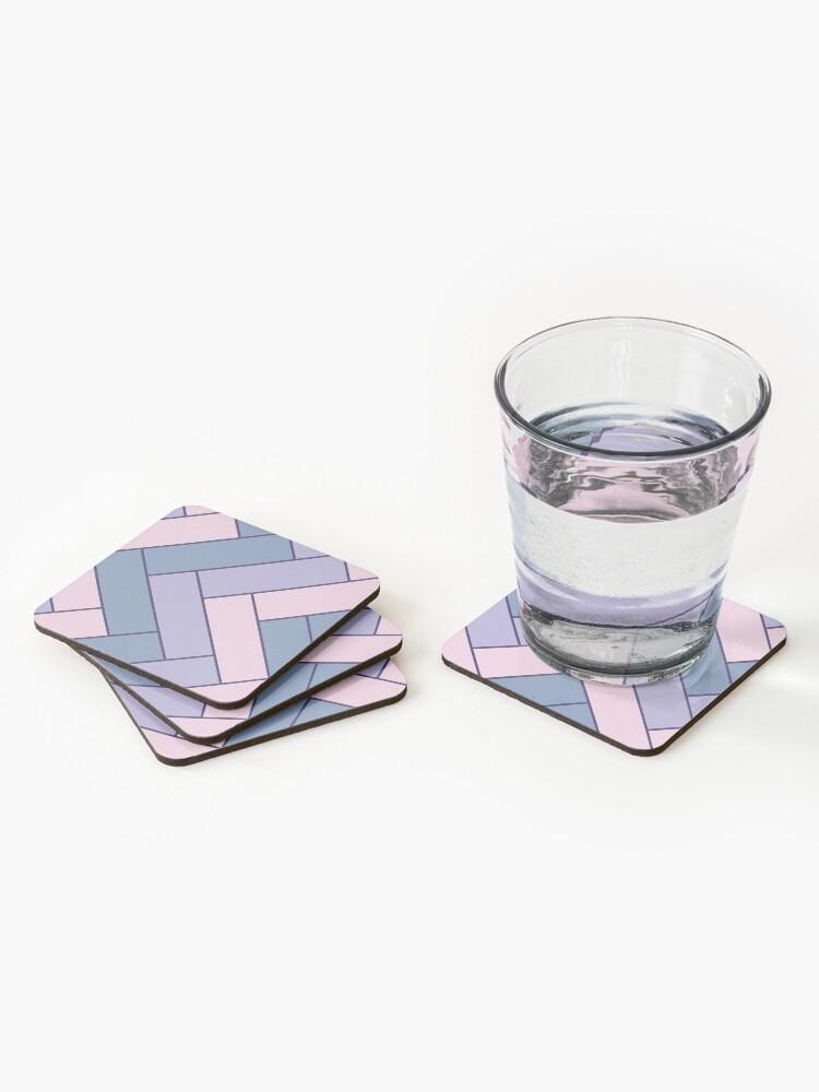 Alternate view of Geometric Pattern: Herringbone: Iris Coasters (Set of 4)