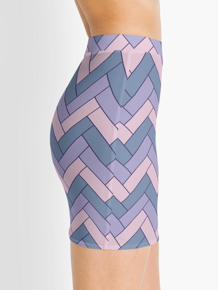 Alternate view of Geometric Pattern: Herringbone: Iris Mini Skirt