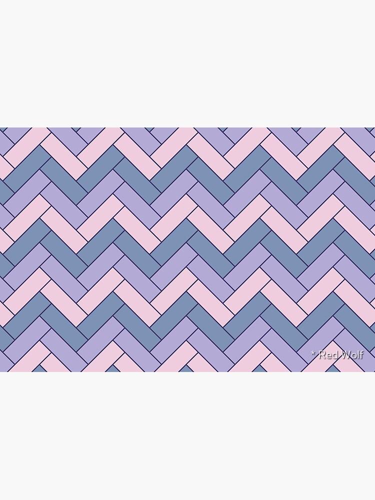 Geometric Pattern: Herringbone: Iris by redwolfoz