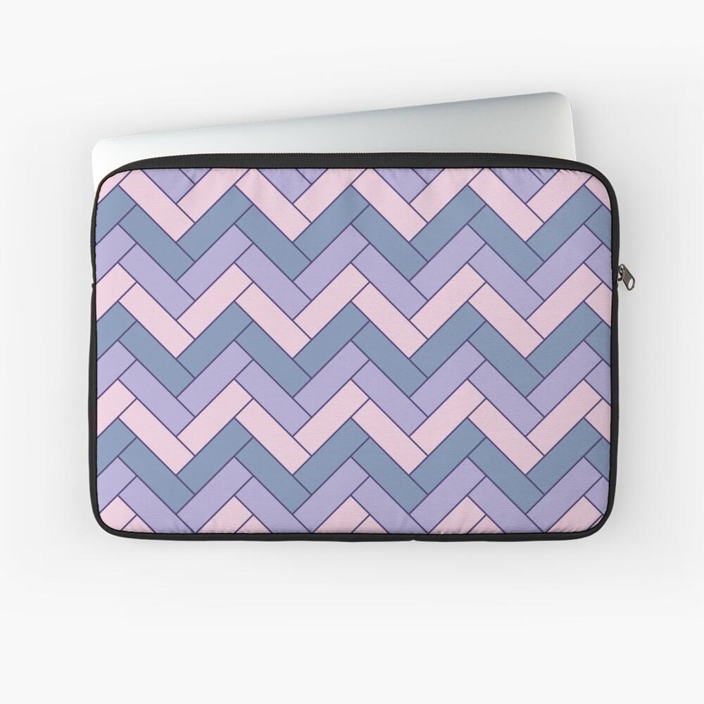 Geometric Pattern: Herringbone: Iris Laptop Sleeve