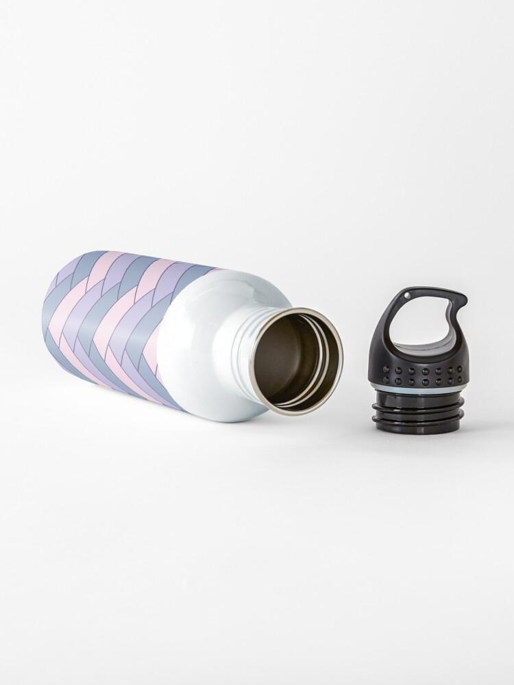 Alternate view of Geometric Pattern: Herringbone: Iris Water Bottle