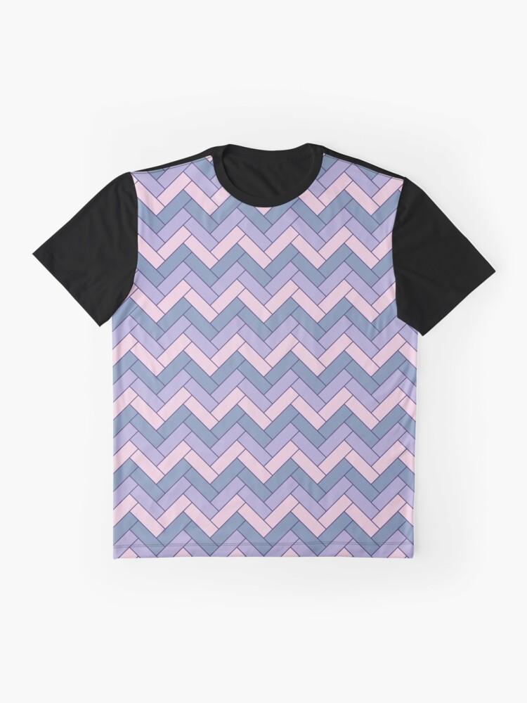 Alternate view of Geometric Pattern: Herringbone: Iris Graphic T-Shirt