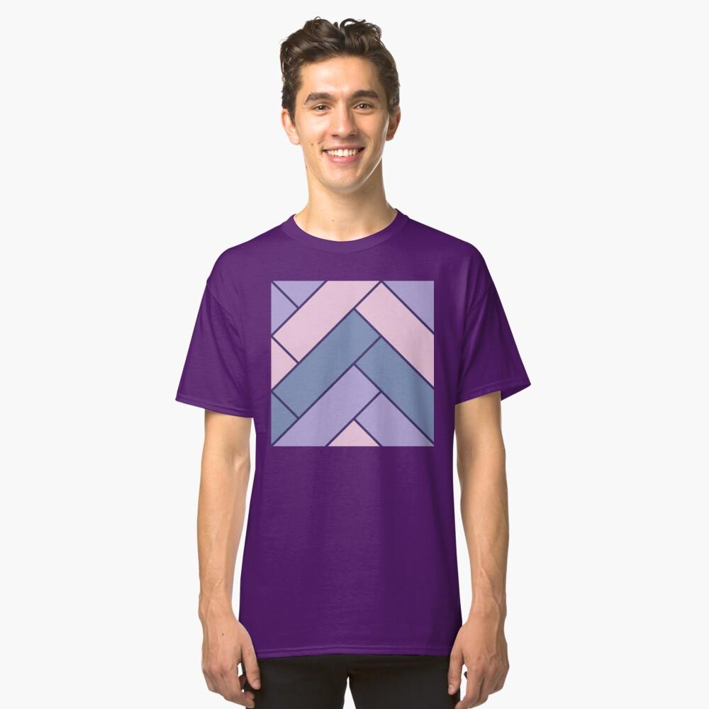 Geometric Pattern: Herringbone: Iris Classic T-Shirt
