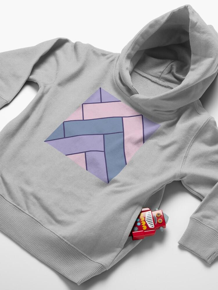 Alternate view of Geometric Pattern: Herringbone: Iris Toddler Pullover Hoodie