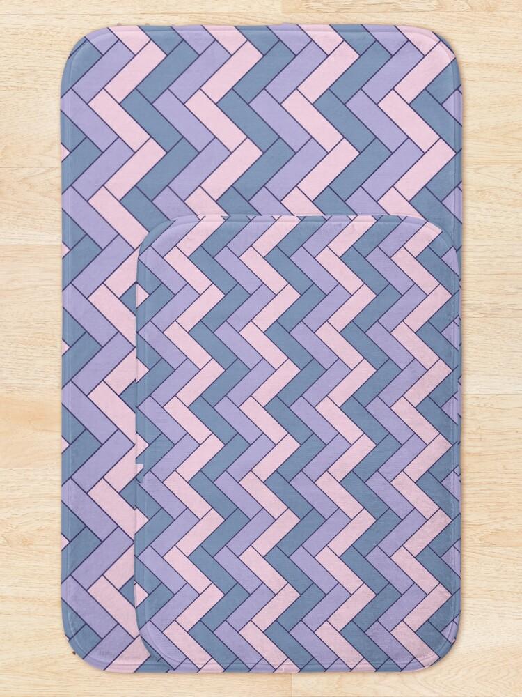 Alternate view of Geometric Pattern: Herringbone: Iris Bath Mat