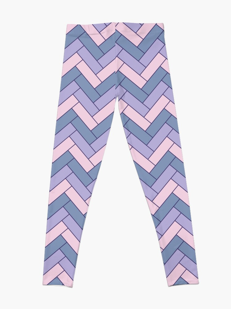 Alternate view of Geometric Pattern: Herringbone: Iris Leggings