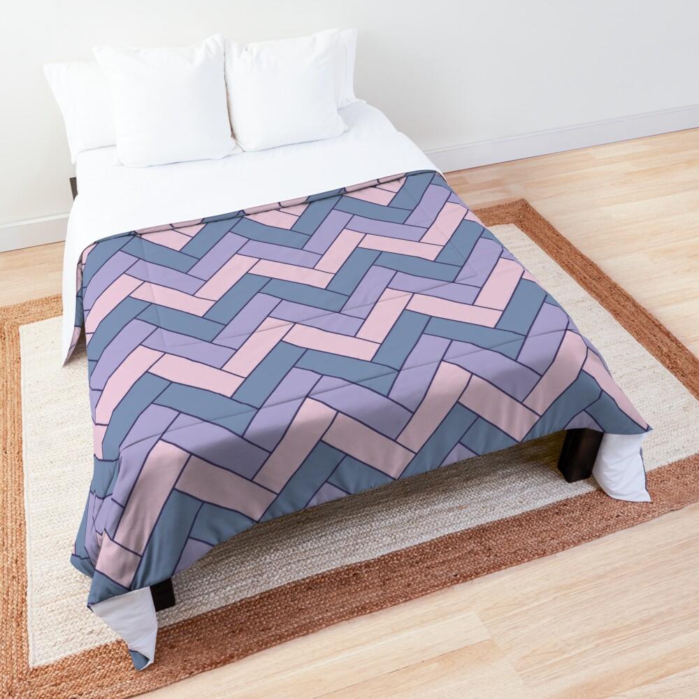 Geometric Pattern: Herringbone: Iris Comforter