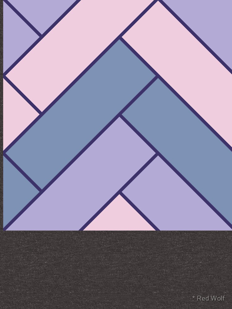 Geometric Pattern: Herringbone: Iris by redwolfoz