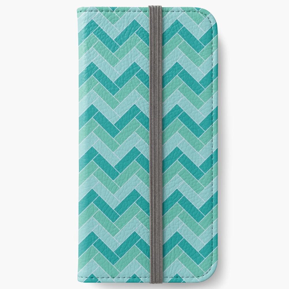Geometric Pattern: Herringbone: Moss iPhone Wallet