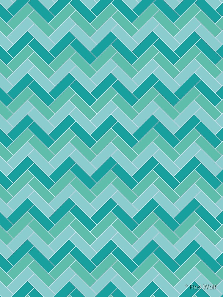 Geometric Pattern: Herringbone: Moss by redwolfoz