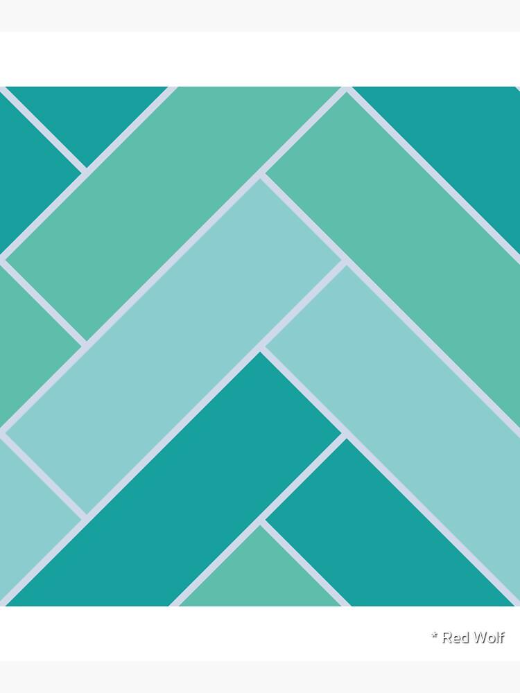 Geometric Pattern: Herringbone: Moss by redwolfoz