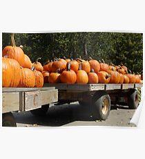 Pumpkin Wagon Poster