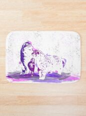 Affectionate Snow Leopards Bath Mat