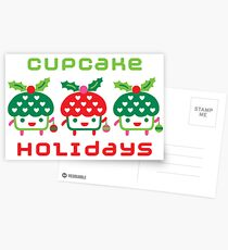 Cupcake Holidays - card Postcards