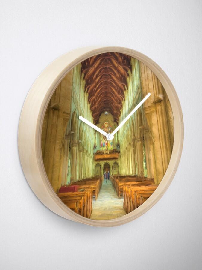 Alternate view of Sacred Heart (digital painting) Clock