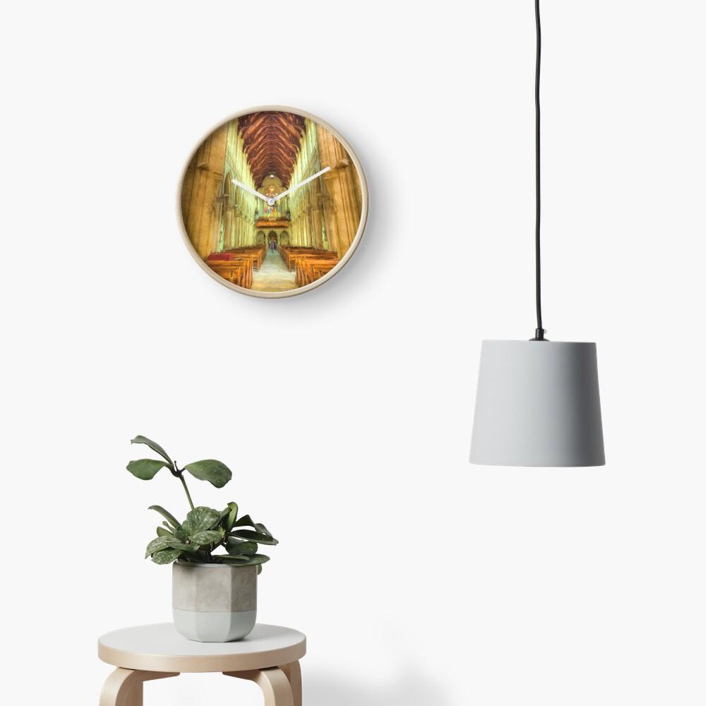 Sacred Heart (digital painting) Clock