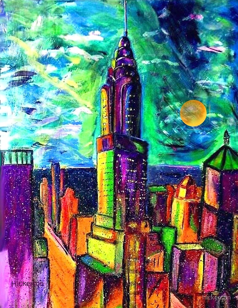 Moon Cityscape by hickerson