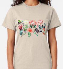 Sunbirds & Proteas On Grey Classic T-Shirt