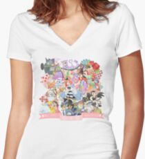 Mass Effect in Wonderland Women's Fitted V-Neck T-Shirt