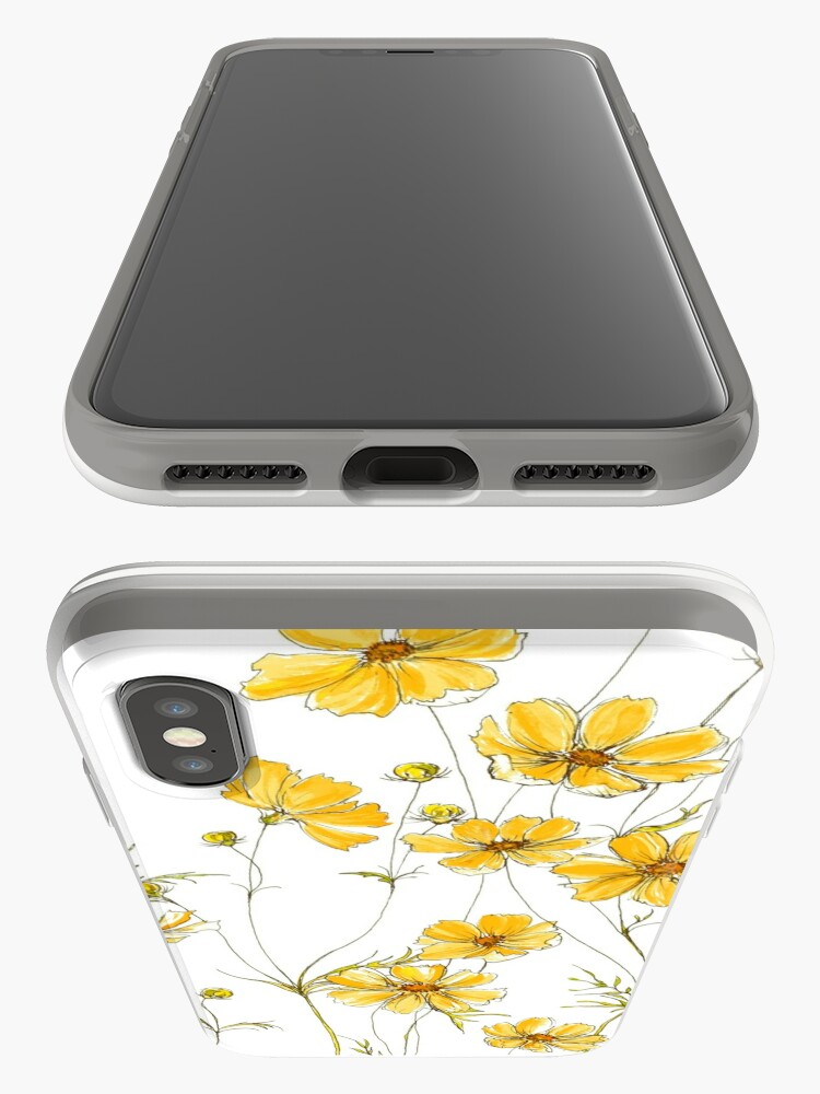 Alternate view of Yellow Cosmos Flowers iPhone Case & Cover