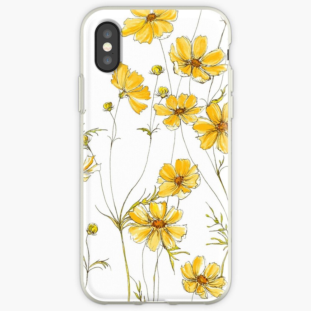 Yellow Cosmos Flowers iPhone Case & Cover