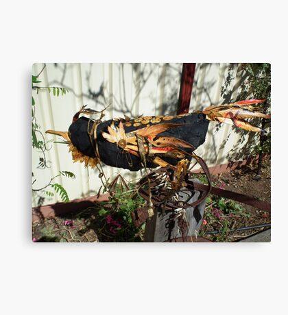 Disco Crow - returning to place of bith Canvas Print
