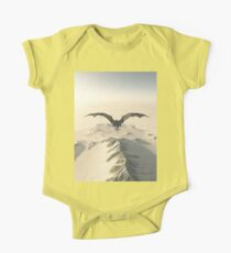 Grey Dragon Flight Over Snowy Mountains Kids Clothes