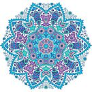 Colorful Retro Floral Lace by artonwear