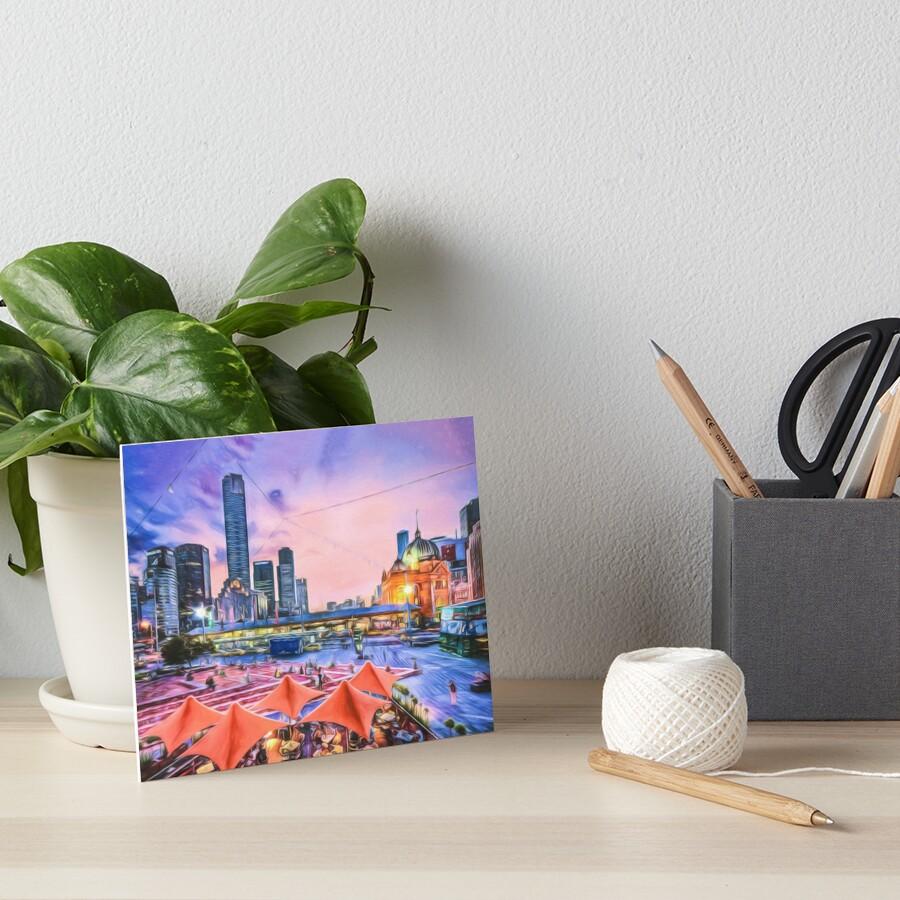 City Sunset II (digital painting) Art Board Print