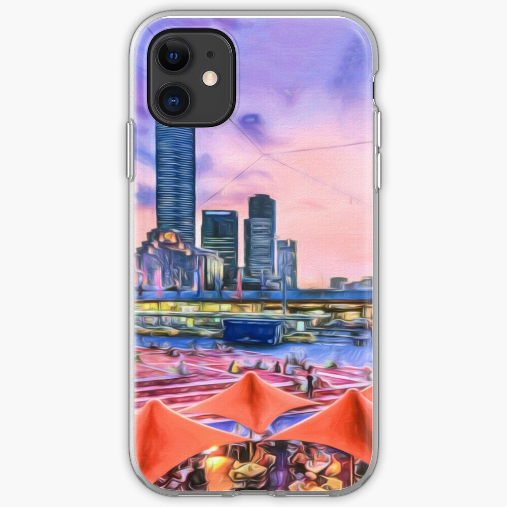 City Sunset II (digital painting) iPhone Case & Cover