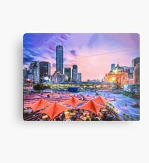 City Sunset II (digital painting) Metal Print