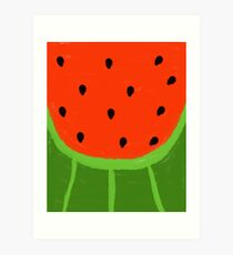 Watermelon Sliced Art Print