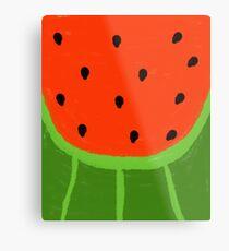 Watermelon Sliced Metal Print