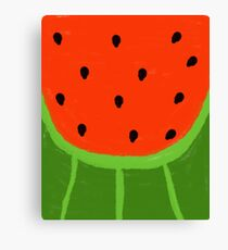 Watermelon Sliced Canvas Print
