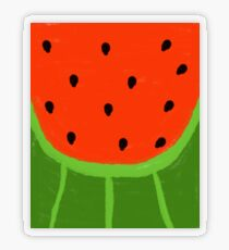 Watermelon Sliced Transparent Sticker