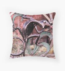 Iron Lizard de los Muertos Throw Pillow
