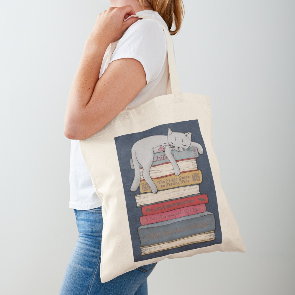 How to Chill Like a Cat Tote Bag