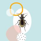 Beetle, modern abstract composition by ColorsHappiness