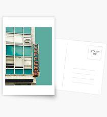 New York Coffee Shop on Aqua Postcards